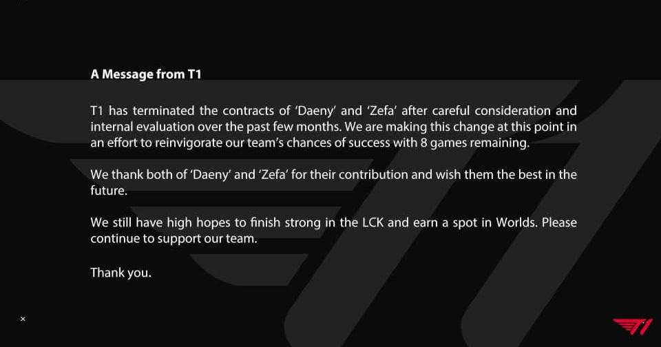 t1 hủy hợp đồng với daeny