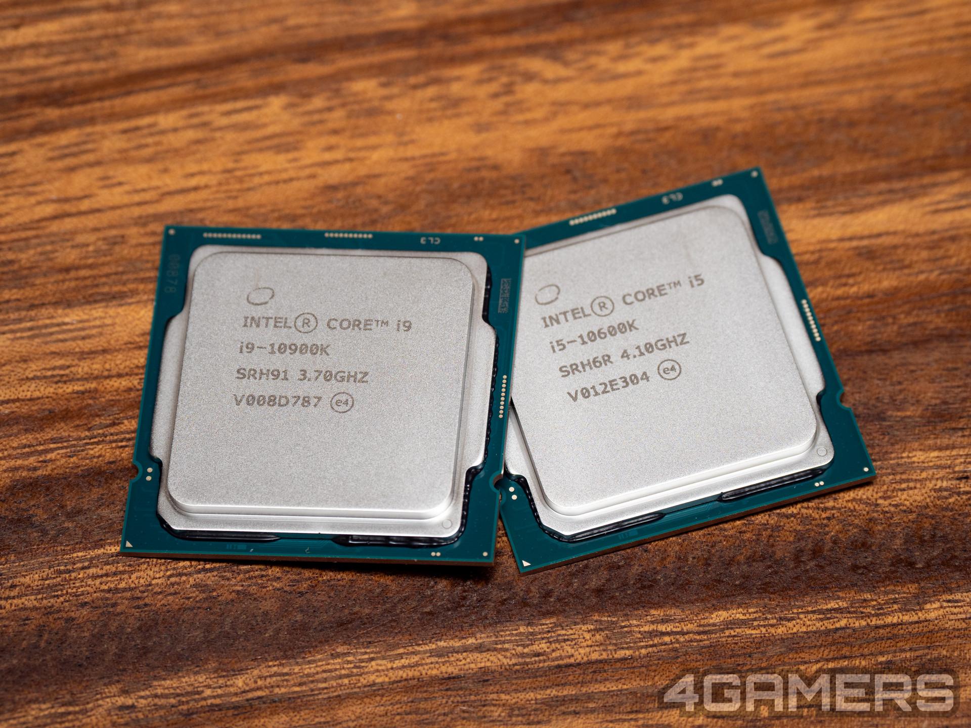 Intel Core i9-10900K and i5-10600K