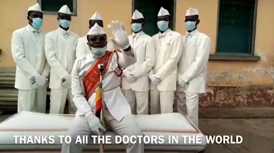 抬棺舞七人眾為全球醫護人員打氣!「待在家,或是跟我們一起跳舞」????