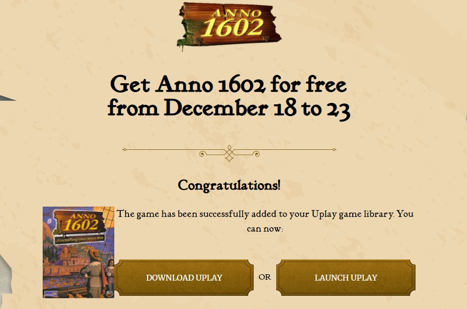 uplay anno 1602