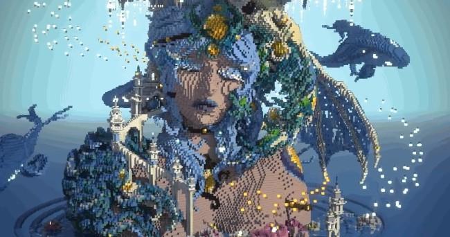 <b>鬼斧神工《Minecraft》神人艺术家新作「Aquasomnia」获万千网友推爆</b>