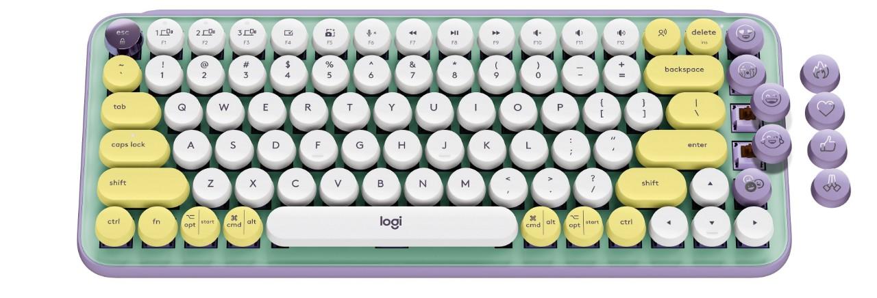 圖說7:POP KEYS 夢幻紫,客製化EMOJI鍵帽 售價$2,690