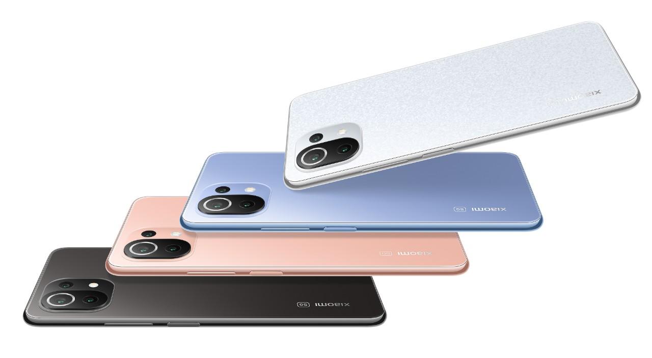 Xiaomi 11 Lite 5G NE將旗艦級性能融入超薄輕巧的機身中,同時提供四款亮麗時尚色系供選擇,展現時尚而引人注目的美感。